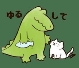 A funny crocodile 3 sticker #13624324