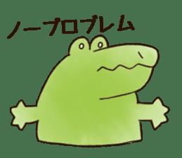A funny crocodile 3 sticker #13624326