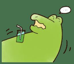 A funny crocodile 3 sticker #13624327