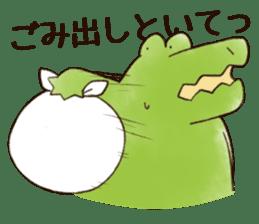 A funny crocodile 3 sticker #13624328