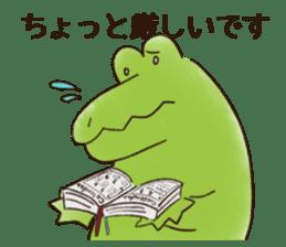 A funny crocodile 3 sticker #13624330