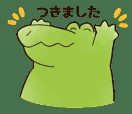 A funny crocodile 3 sticker #13624331