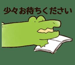 A funny crocodile 3 sticker #13624335