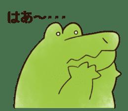 A funny crocodile 3 sticker #13624336