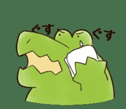 A funny crocodile 3 sticker #13624337