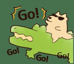 A funny crocodile 3 sticker #13624339