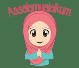 Cute sister hijab sticker #13632958