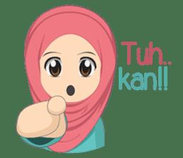 Cute sister hijab sticker #13632960