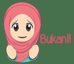 Cute sister hijab sticker #13632962