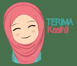 Cute sister hijab sticker #13632964