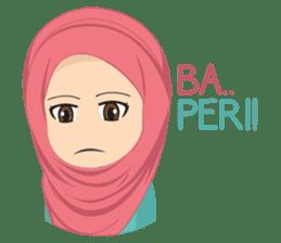Cute sister hijab sticker #13632965