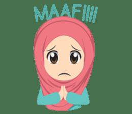 Cute sister hijab sticker #13632967
