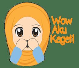 Cute sister hijab sticker #13632970