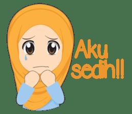 Cute sister hijab sticker #13632971