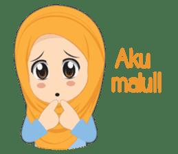 Cute sister hijab sticker #13632972