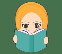 Cute sister hijab sticker #13632974