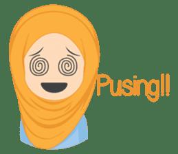 Cute sister hijab sticker #13632975