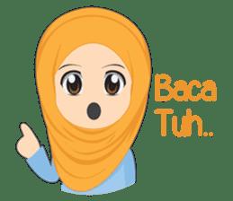 Cute sister hijab sticker #13632976