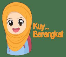 Cute sister hijab sticker #13632977