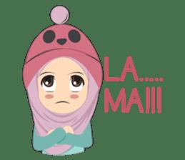 Cute sister hijab sticker #13632980