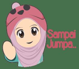 Cute sister hijab sticker #13632981