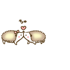 Cute hedgehog of animation