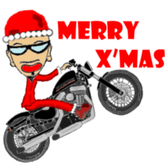 I LOVE American Motorcycle!! X'mas ver.