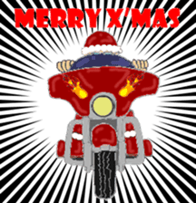 I LOVE American Motorcycle!! X'mas ver. sticker #13634070
