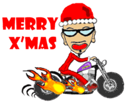 I LOVE American Motorcycle!! X'mas ver. sticker #13634072