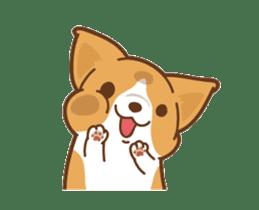 Corgi Dog Kaka - animated sticker vol. 1 sticker #13634543