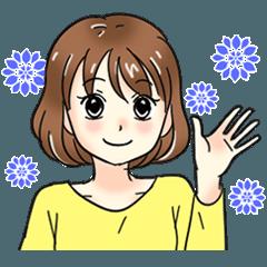 Cute girl cartoon stickers!