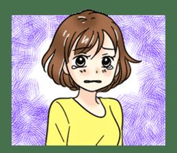 Cute girl cartoon stickers! sticker #13638712