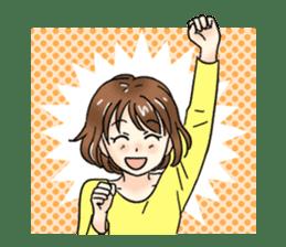 Cute girl cartoon stickers! sticker #13638724
