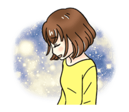 Cute girl cartoon stickers! sticker #13638728