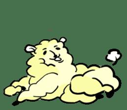 cute lazy sheep ver01 sticker #13643813