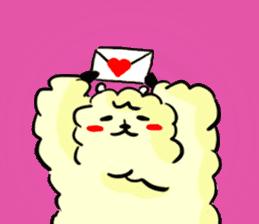 cute lazy sheep ver01 sticker #13643816