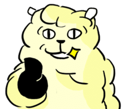 cute lazy sheep ver01 sticker #13643820