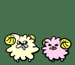 cute lazy sheep ver01 sticker #13643845