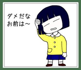 """Japanese """"sharp tongue"""" littlegirl sticker #13644011"""