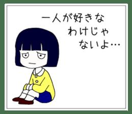 """Japanese """"sharp tongue"""" littlegirl sticker #13644019"""