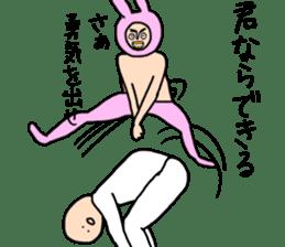 fake cute rabbit sticker #13649261