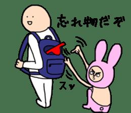fake cute rabbit sticker #13649265