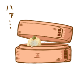 Gyoza-chan in real life sticker #13651287