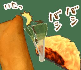Gyoza-chan in real life sticker #13651292