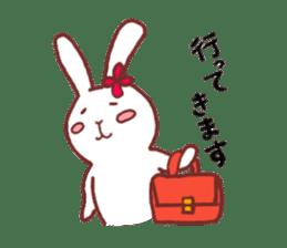life of a delicate rabbit sticker #13652993