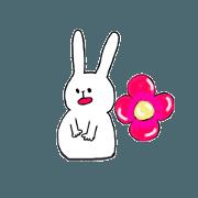 สติ๊กเกอร์ไลน์ Daily life of the friendly rabbit