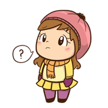 Girl with scarf sticker #13669409