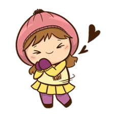 Girl with scarf sticker #13669415