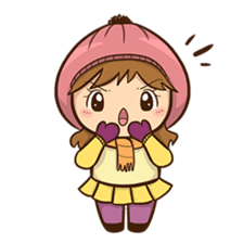 Girl with scarf sticker #13669416