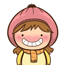 Girl with scarf sticker #13669421